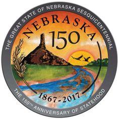 Nebraska Sesquicentenial 2017   Official Seal