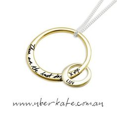 Engrave the Mother and Child Pendant with your own handwriting via our Your Script technology and make it that extra personal. https://www.uberkate.com.au/products.php?category=Necklaces&subcategory=Mother+%26+Child