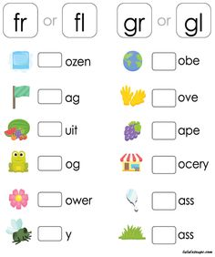 Teach Your Child To Read Fast - Teaching phonics is a great way to help your child learn to read and write with confidence! Use this free, printable phonics - TEACH YOUR CHILD TO READ and Enable Your Child to Become a Fast and Fluent Reader! Consonant Blends Worksheets, Digraphs Worksheets, Phonics Blends, Blends And Digraphs, School Worksheets, Worksheets For Kids, Kindergarten Worksheets, Printable Worksheets, Free Printable