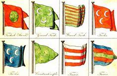 Ottoman Navy Banners (Osmanlı Donanma Sancakları) Ottoman Flag, Ottoman Empire, Turkish Soldiers, Ottoman Turks, Cradle Of Civilization, Islam, Naval History, Mystery Of History, Native American History