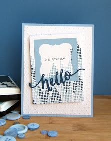 Kara Vrabel for Wplus9 featuring Hand Lettered Hello Stamp Set and Die and Borders & Backgrounds 4