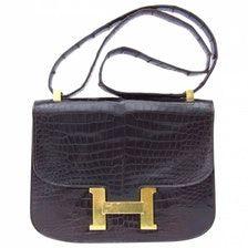HERMÈS Constance crocodile handbag