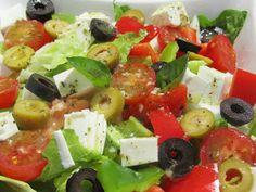 Ensalada con aliño griego