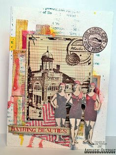 Mixed Media Card by Kate's Scrap Yard for Artistic Outpost: Boardwalk, Flapper Fashion