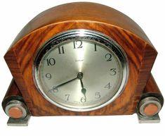 Art Deco Walnut mantle clock