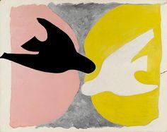 Georges Braque, L'Oiseau noir et l'oiseau blanc, 1960