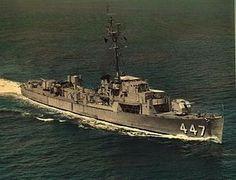 USS Albert T. Harris (DE-447) John C. Butler-class destroyer escort.