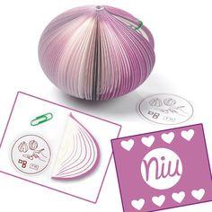 haz tus notas en este lindo taco de papel en forma de cebolla :) Encuentra esto y mucho más en: www.niuenlinea.co
