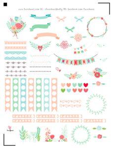 free floral planner stickers Erin Condren Happy Planner