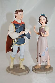 "Disney WDCC ""I'm Wishing For the One I Love"" Snow White and Prince"