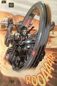 Lobo's new Gantz mobile. Comic Sound Effects, Heavy Metal Comic, Planet Movie, One Piece Episodes, Hq Dc, Infinite Earths, Superhero Design, Comic Panels, Dc Heroes