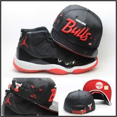 7a06e7c556c New Era Chicago Bulls Custom Strapback Hat Air Jordan Retro 11 XI Bred Snapback  Jordan Hats