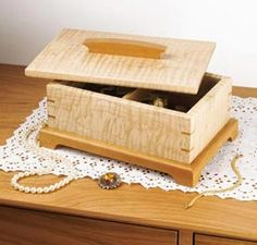 Secret-compartment jewelry box Woodworking Plan, Gifts & Decorations Boxes & Baskets