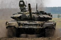 """Main Battle Tank T-72BA. The upgrade consisted of: -New built-in dynamic protection """"Kontakt-V""""; -Increased mine resistance of the bottom of the additional armor plate in the seat area of the..."""
