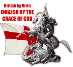 St George - British by birth,, English by grace of god St George Flag, Saint George, England Flag Wallpaper, American National Holidays, Happy St George's Day, Cherub Tattoo, St Georges Day, Templer, Oxford England