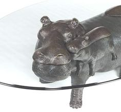 Hippo Table animal sculpture furniture | animal sculptures and coffee