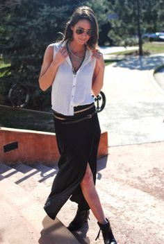 Festival Style / Maxi skirt and booties