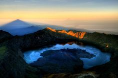 Sunrise at Mt. Rinjani, Lombok - Indonesia  ... I did the trek 3726m - it was an amazing morning!