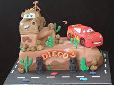 Lightning McQueen & Mater cake