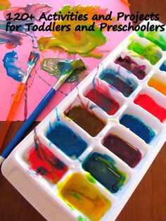 Huge list of activities and projects for toddlers and preschoolers