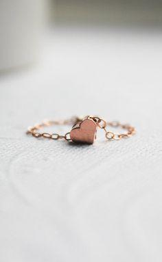 Tiny Rose Gold Heart Ring