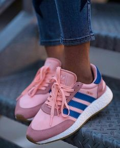 brand new 7e912 17963 Adidas Pink and Blue Shoes