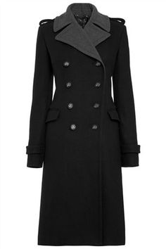 Black Long Coat, £85 | Next - Need something like this for winter travels!