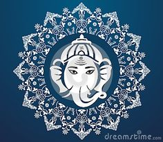 Indian god ganesha, Ganesh idol flat design Royalty Free Stock Images