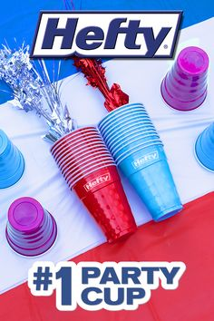 Save time on cleanup at your next party with these durable Hefty® Party Cups Mickey Baby Showers, Baby Mickey, 18th Birthday Party, Halloween Birthday, Party Cups, Big Party, Aurora Costume, Quiet Book Patterns, Blue Cups