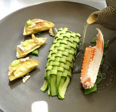 Tissage de courgette / Zucchini lattice