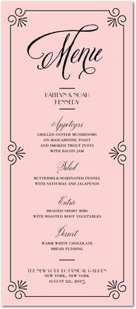 Save OFF + extra OFF on wedding menu cards. Shop beautiful wedding menu cards that are easy to customize. Tailor your wedding menu down to every detail.