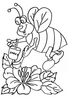 Free printable bee coloring pages for kids. Bee coloring pages for girls and for boys. Make a coloring book of free pictures and sheets. Ladybug Coloring Page, Bee Coloring Pages, School Coloring Pages, Animal Coloring Pages, Printable Coloring Pages, Free Coloring, Adult Coloring, Coloring Books, Brother Innovis