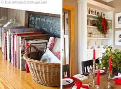 My favorite blog........the lettered cottage.net all dressed up for Christmas.....Great job Kevin & Layla