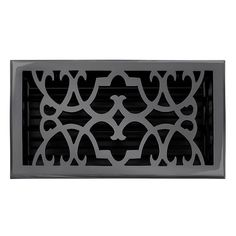 "This dark bronze finish solid brass floor register heat vent cover with a victorian scroll design fits 6"" x 10"" x 2"" duct openings and adds the perfect accent to your home decor."