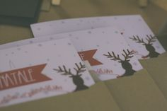 Christmas card with kraft envelope