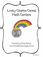 Lucky Charms Cereal Themed Math Centers