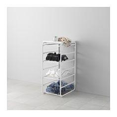 IKEA - ALGOT, Structura/3cestosrejll/baldasup, Puedes combinar los elementos de la serie ALGOT de muchas maneras distintas según tus necesidades y el espacio de que dispongas.Como los pies se pueden ajustar, se mantiene estable incluso en suelos irregulares.El cesto se desliza suavemente y lleva un tope que impide que se salga.La balda superior ALGOT proporciona una práctica superficie de trabajo y es compatible con todas las estructuras de la misma serie.Puedes optimizar el espacio del…
