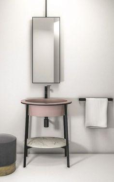 Un lavabo structurée dans ma salle de bains actuelle