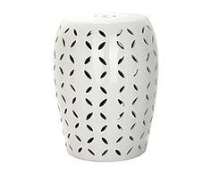 Табурет - керамика - белый - В43,18