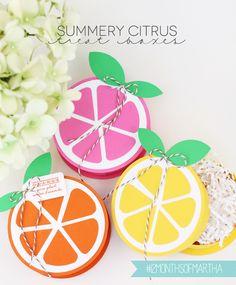 Summery Citrus Treat Boxes