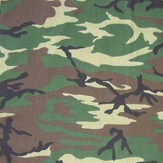 Camouflaged Bandana 22 x 22