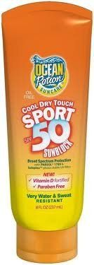 Ocean Potion Suncare Cool Dry Touch Sport Sunscreen Lotion SPF 50 -- 8 fl oz by Ocean Potion. $11.00. Ocean Potion. Now it is possible to protect your skin and get the vitamin D your body needs. Now it is possible to protect your skin and get the vitamin D your body needs. Each one ounce application offers 200 IU's of Vitamin D3. This Fragrance Free, Non-Greasy Formula provides the Ultimate Sun Protection for all Outdoor Activities. Helps prevent sunburn. If used as directed wit...