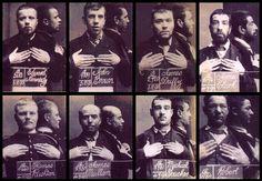 Barlinnie boys. Mugshots of prisoners in Glasgow's Barlinnie jail, each taken on the day of their release in 1890.