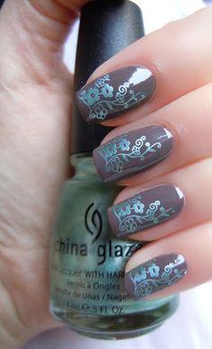 #nails#cute#nail art#floral