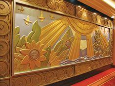 Art Deco Mural on Queen Mary Veranda