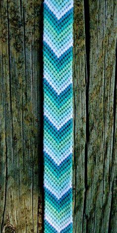 Items similar to Aquamarine Ankle Friendship Bracelet on Etsy Thread Bracelets, Diy Bracelets Easy, Embroidery Bracelets, Summer Bracelets, Cute Bracelets, Ankle Bracelets, Beaded Bracelets, String Bracelets, Bracelet Fil