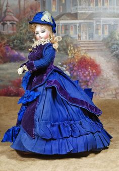 "Lot: BEAUTIFUL, ALL-ORIGINAL, FRENCH BISQUE POUPEE BY JUMEAU, Lot Number: 0081, Starting Bid: $1,200, Auctioneer: Frasher's Doll Auction, Auction: DOLL AUCTION ""MEET A. MARQUE NO. 2"" , Date: July 17th, 2016 CEST"