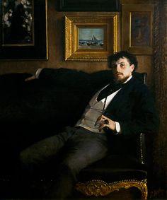 """Paul Mathey: """"Portrait of Ernest Ange Duez"""", 1876, oil on canvas, Musée des beaux-arts d'Arras."""
