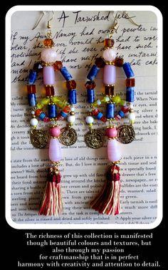 Statement earrings by Anita Quansah London Boho Earrings, Statement Earrings, Drop Earrings, Costume Jewelry, Jewelry Accessories, London, Handmade, Style, Log Projects