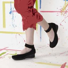 Urban 182000705 Stylish shoe with wide ankle strap featuring adjustable velcro fastening, soft nubuck uppers in inky black shade, removable insole with leather lining and rubber outsole with wedge heel approximately 3.5cms high.